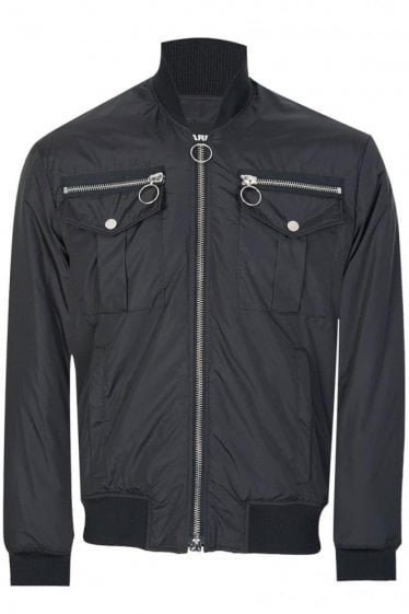 Dsquared Nylon Bomber Jacket Black