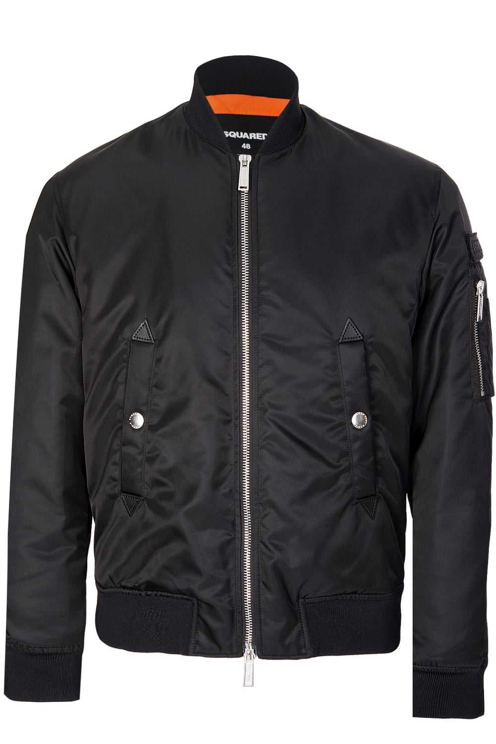 703d73cede2 Dsquared Nylon Bomber Jacket Black