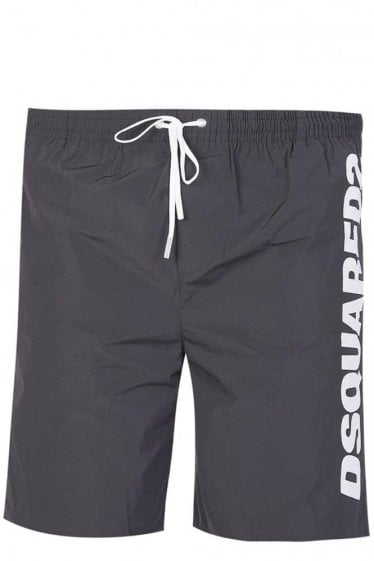 Dsquared Nylon Logo Swim Shorts Black