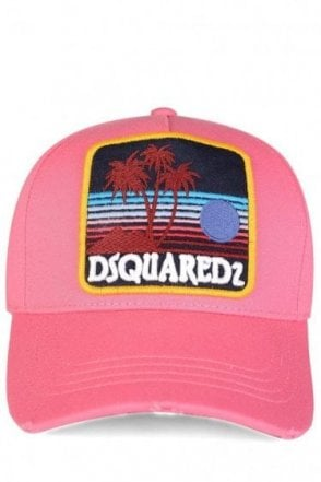 Dsquared Patch Baseball Cap Pink