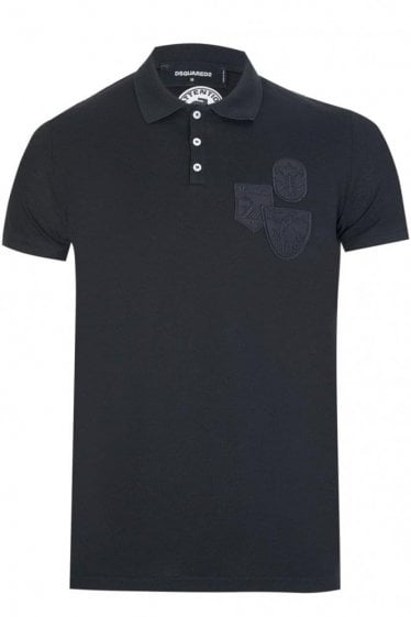 Dsquared Patch Logos Polo Black
