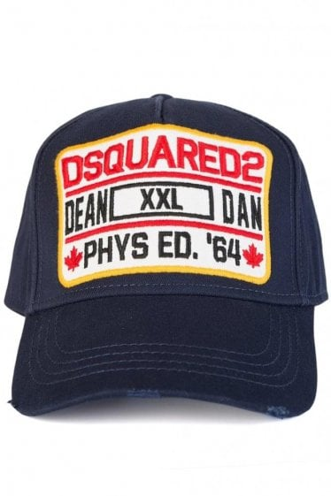 Dsquared Patch 'XXL' Baseball Cap Navy