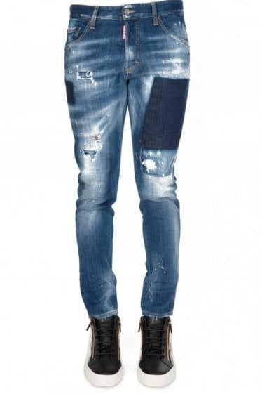 Dsquared Patched Skinny Dan Jeans