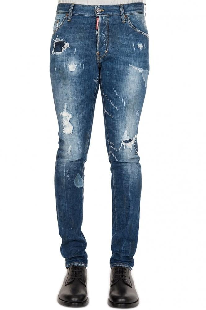 DSQUARED Planked Patch Jeans