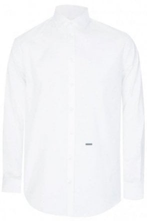 Dsquared Poplin Stretch Shirt White