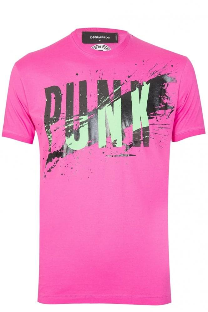 DSQUARED2 Dsquared Punk Tshirt Pink