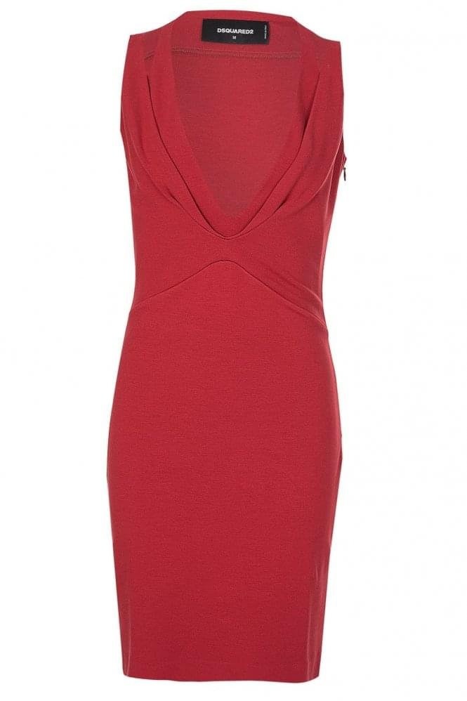 DSQUARED Red Body Con Dress