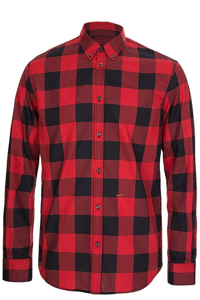 DSQUARED Red Checkered Shirt