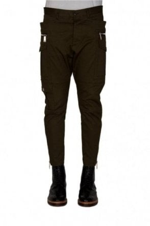 Dsquared Sexy Cargo Fit Trousers Khaki