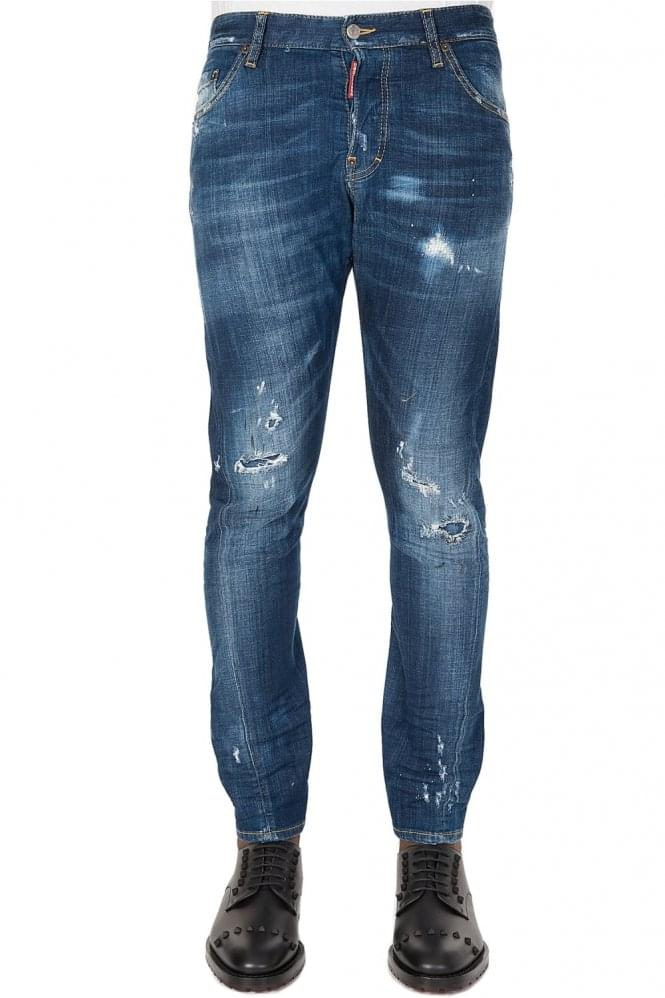 DSQUARED Sexy Twist Blue Jeans