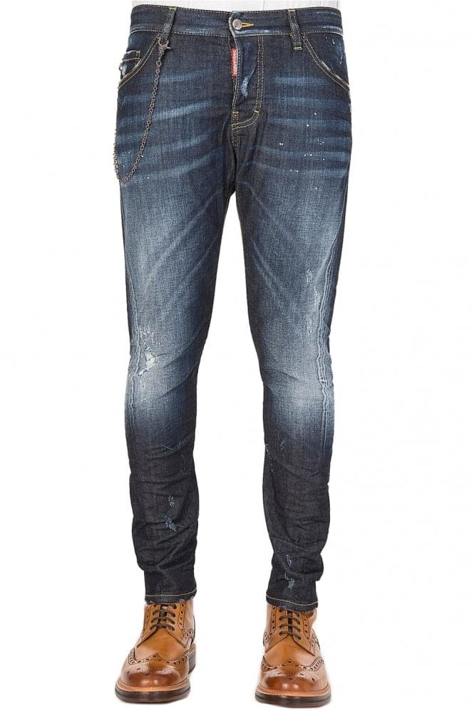 DSQUARED2 Dsquared Sexy Twist & Chain Jeans