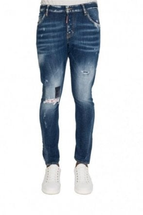 Dsquared Sexy Twist Denim Jeans Blue