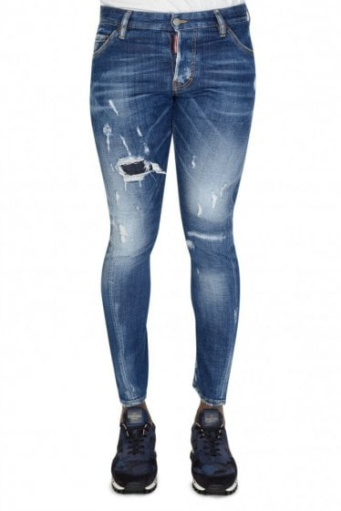 Dsquared Sexy Twist Slash Denim Jeans