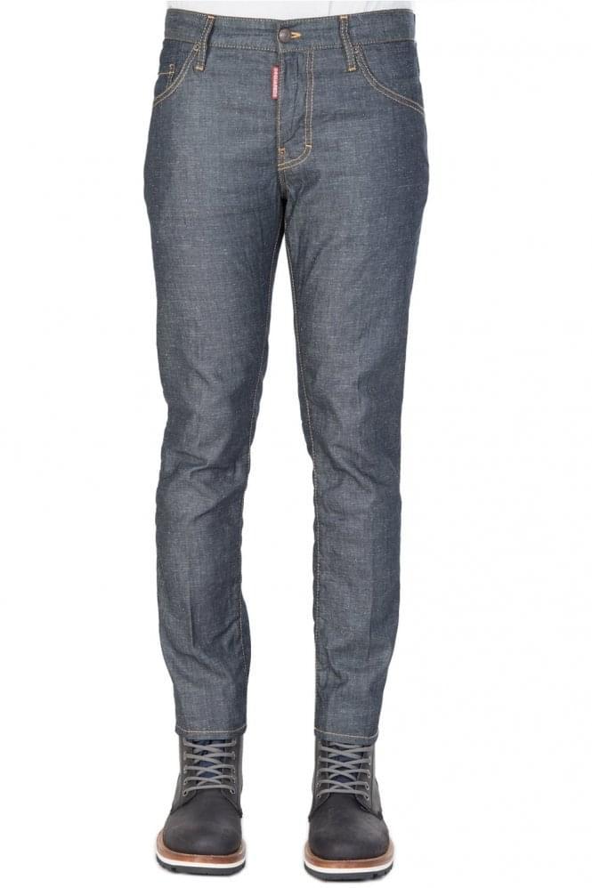 Short Sleeve Dsquared Skater Fit Jeans Blue