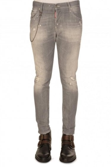 Dsquared Skater Fit Jeans Grey