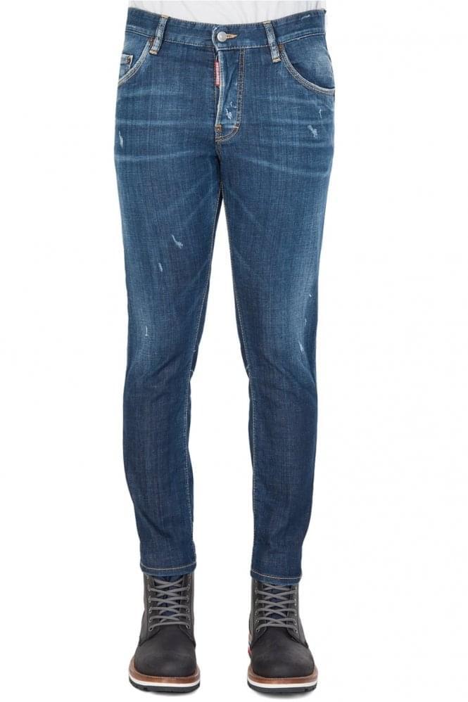 Short Sleeve Dsquared Skater Jeans Blue