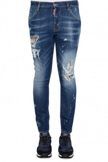 Dsquared Skater Patches Navy Jeans