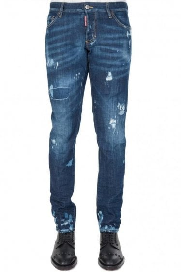 Dsquared Slim Fit Jeans Blue