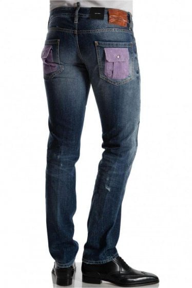 Dsquared Slim Jean Patch Wash Denim Jeans