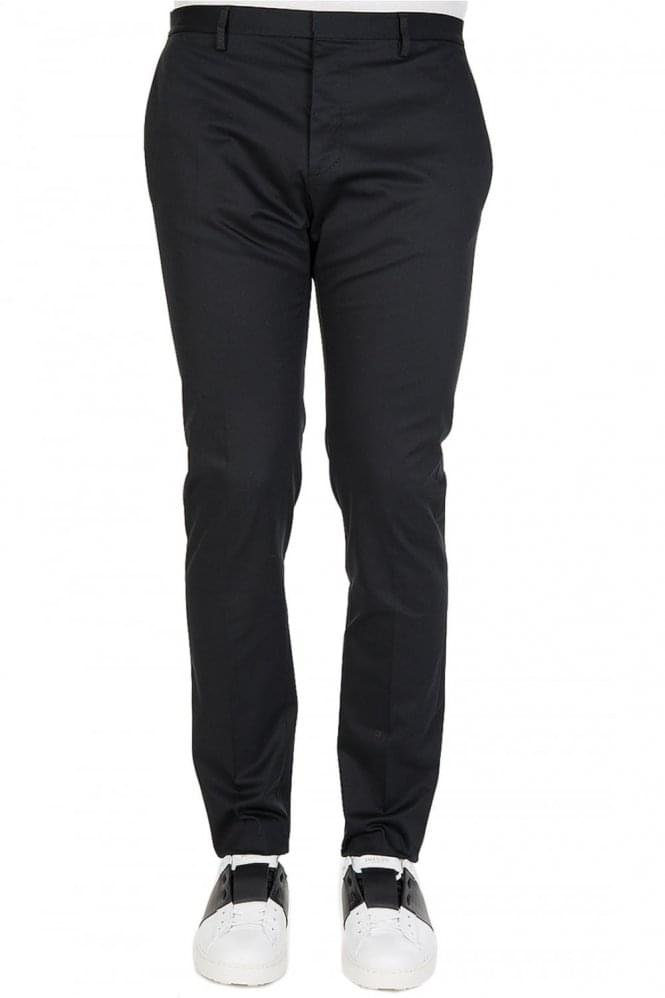 DSQUARED Smart Cotton Trousers Black