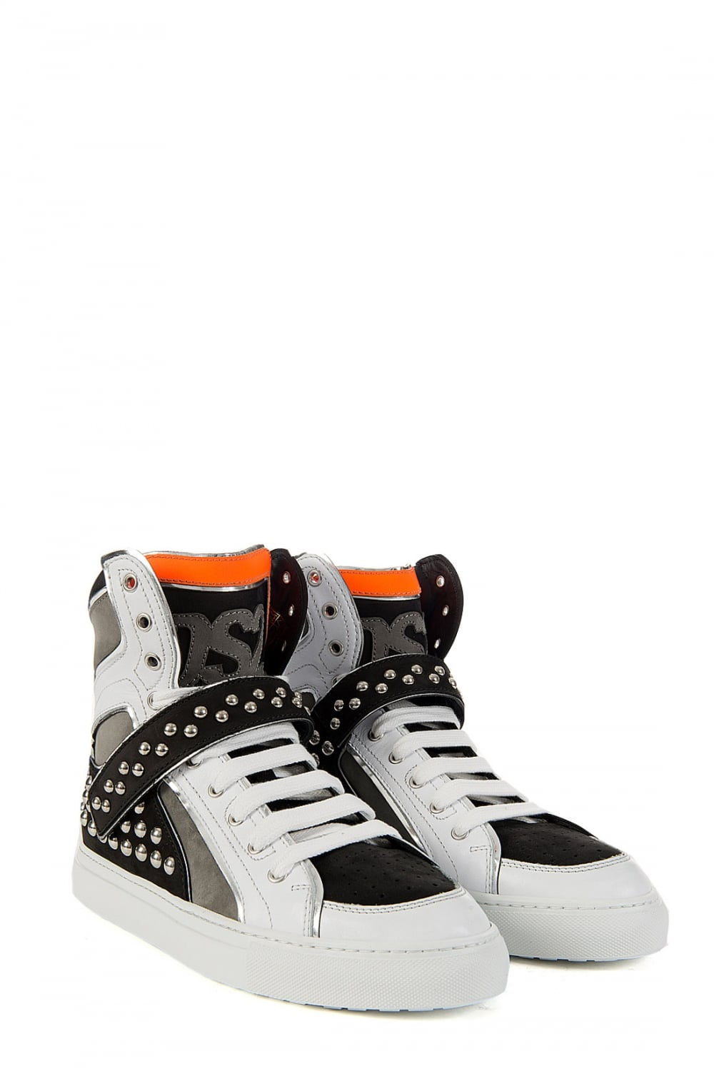 White Stud Sneaker Clothing Top Dsquared2 High From Dsquared 8yvnOP0wNm
