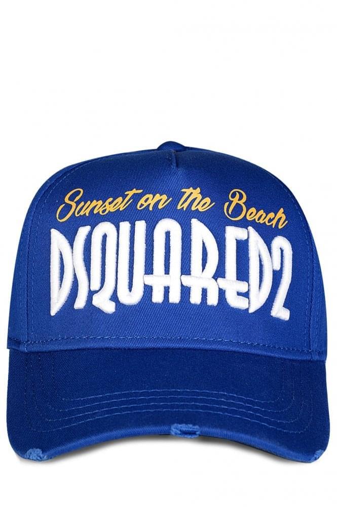 Atardecer En La Playa Gorra De Béisbol Bordada - Azul Dsquared2 Iq5KpioiQJ