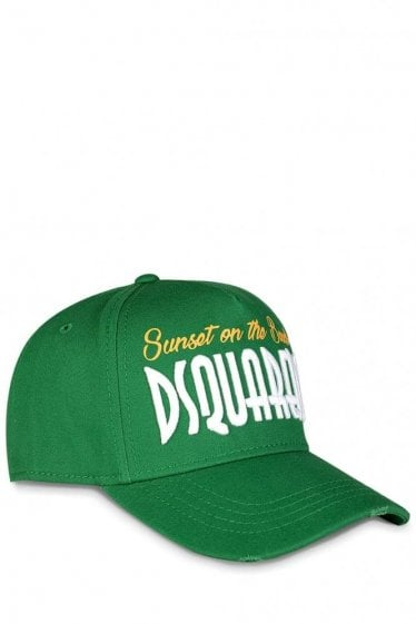 Dsquared 'Sunset on the Beach' Embroidered Baseball Cap