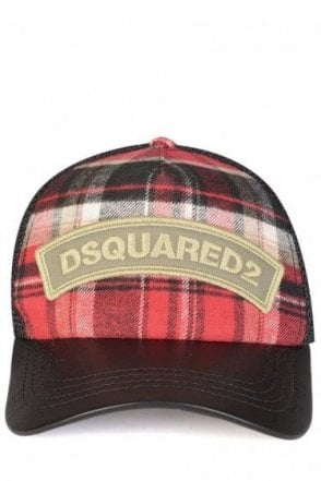 Dsquared Tartan Baseball Cap Black