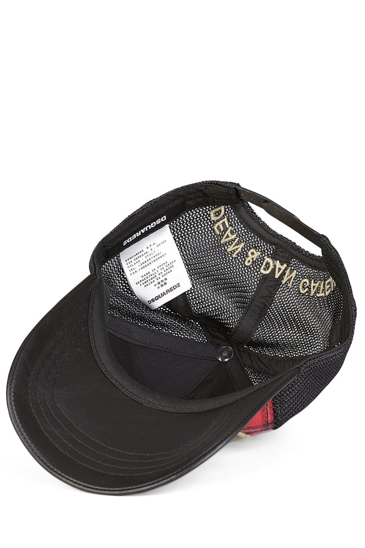 e2e5af5c7 Dsquared Tartan Baseball Cap Black