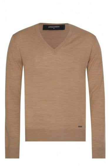 Dsquared V-Neck Fine Knit