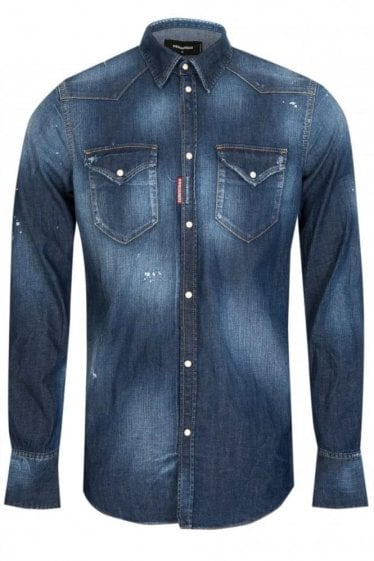 Dsquared Western Denim Shirt