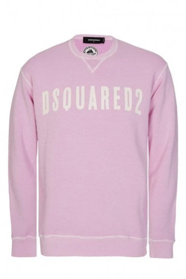 Dsquared White Fade Sweatshirt Pink