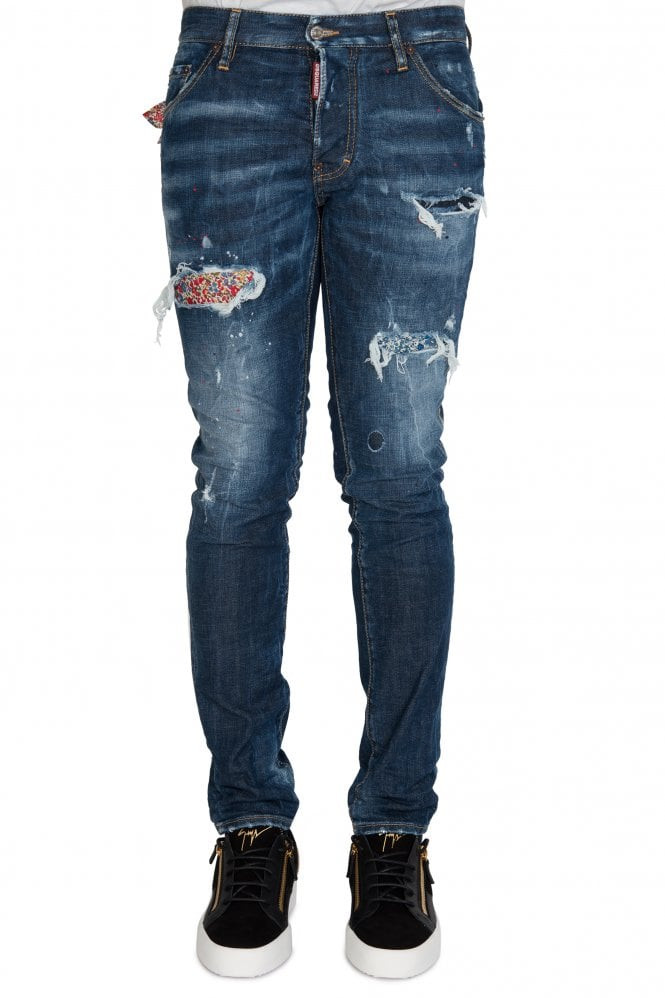 Dsquared2 Cool Guy Hanky Slim Fit Jeans