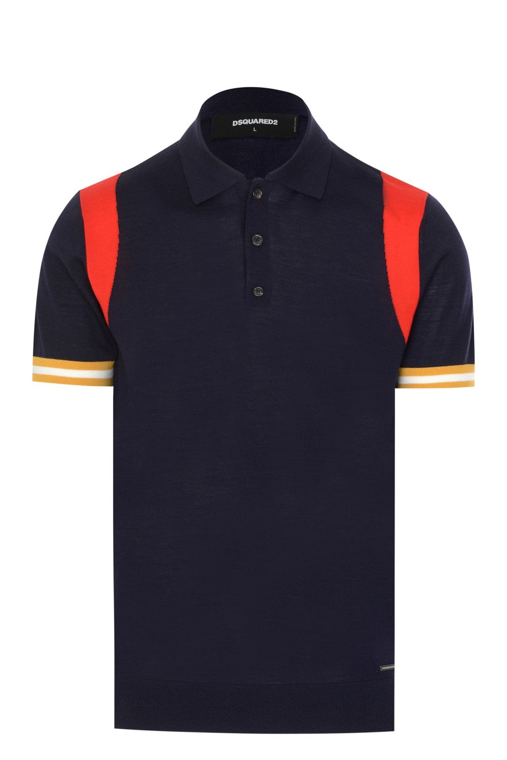 0be72bd3 DSQUARED2 Dsquared2 Knitted Polo Shirt - Clothing from Circle Fashion UK