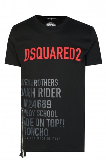 Dsquared2 Logo & Zip T-shirt