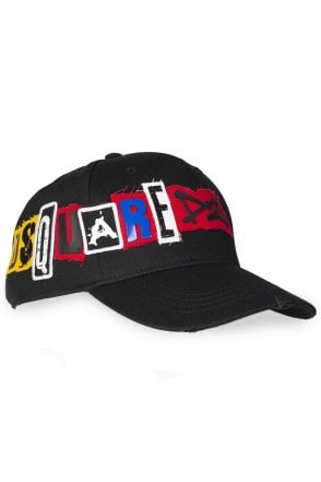 DSQUARED2 Dsquared2 Patch Logo Baseball Cap - Clothing from Circle ... fab605233530