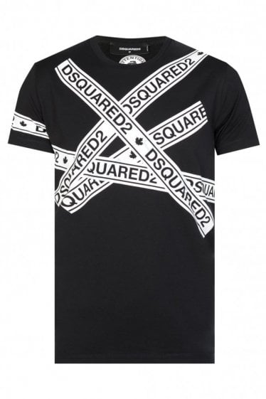 Dsquared2 Tape Logo T-shirt Black