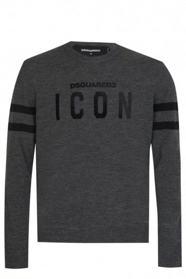 Dsquared2 Woven Icon Knit Sweatshirt