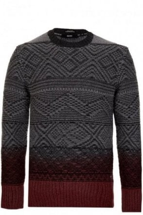 Hugo Boss 'Egone' Crewe Ombre Neck Jumper