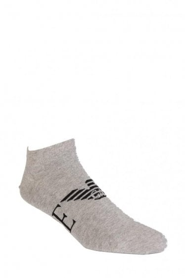 Emporio Armani 2 Pack Stretch Cotton Socks Grey