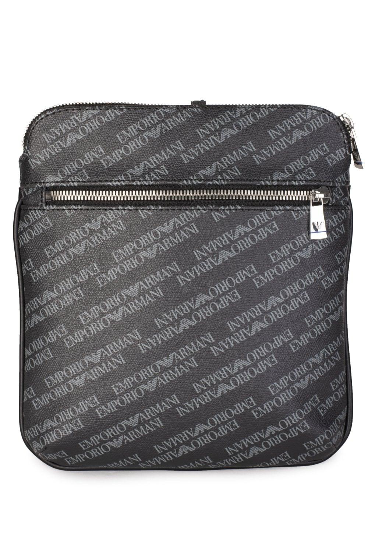 e464c3889cf1 EMPORIO ARMANI Emporio Armani All Over Logo Messenger Bag - Clothing ...