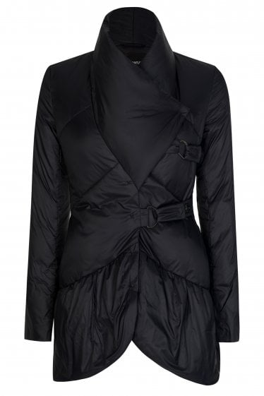 Emporio Armani Asymmetric Collar Quilted Coat