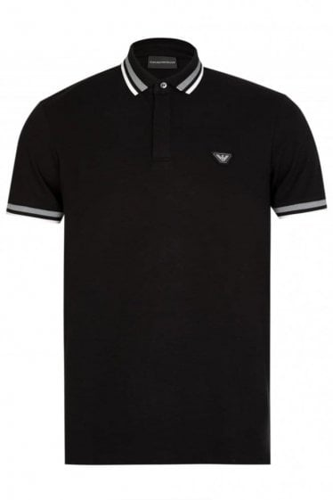 Emporio Armani Badge Logo Polo Black