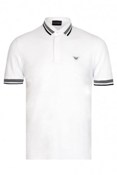 Emporio Armani Badge Logo Polo White