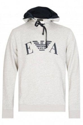 Emporio Armani Chest Logo Hooded Sweatshirt Grey