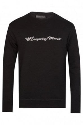 Emporio Armani Chest Logo Sweatshirt Navy