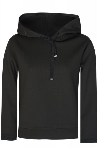 Emporio Armani Cropped Logo Hooded Sweatshirt