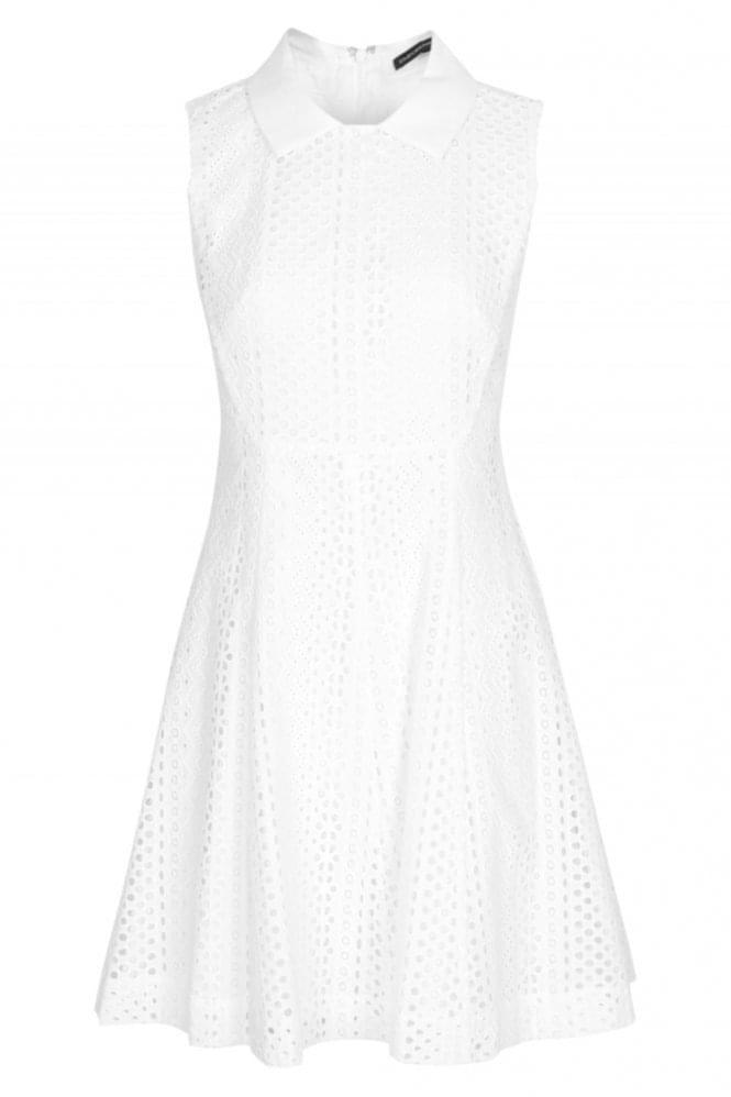 Emporio-Armani-Lace-Dress-White