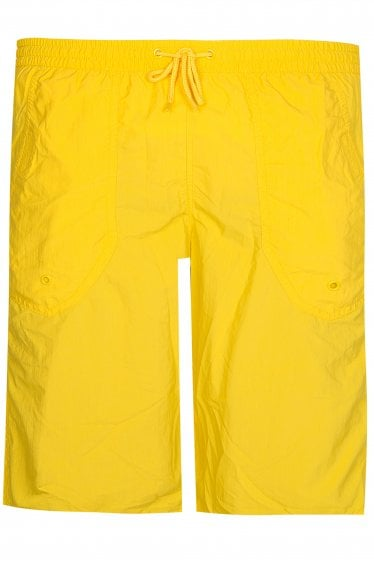 Emporio Armani Logo Swim Shorts Yellow