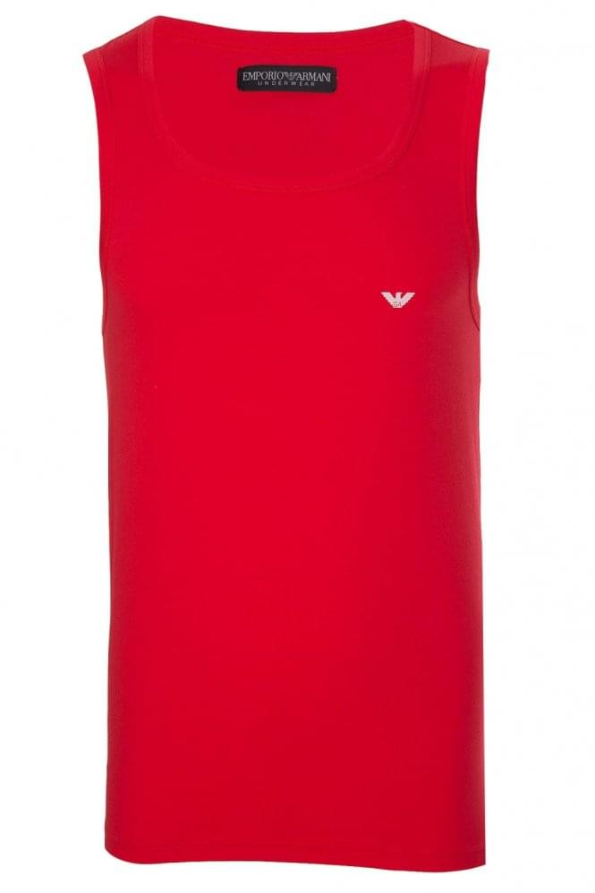 Emporio Armani Logo Tank Top Red